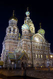 rozlewający Petersburg krwionośny kościelny święty Fotografia Royalty Free
