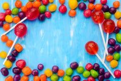 Rozmaitość cukierki i lizaki obrazy stock