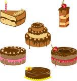 Rozmaitość czekoladowi torty Fotografia Stock