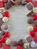 Rozmaitość czekolady Zdjęcia Stock