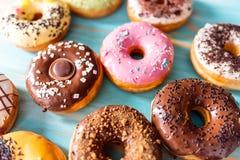 Rozmaitość donuts zdjęcia stock