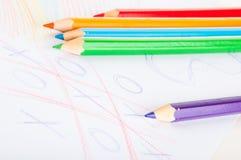 Rozmaitość drewniani kolorów ołówki odizolowywający na białym tle Zdjęcie Stock
