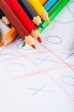 Rozmaitość drewniani kolorów ołówki odizolowywający na białym tle Fotografia Royalty Free