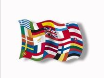 Rozmaitość europejczyk flaga, zamyka up ilustracja wektor