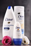 Rozmaitość gołąbka produkty wliczając ciała mleka i anty Zdjęcia Stock