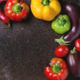 Rozmaitość kolorowi papryka pieprze Obraz Royalty Free