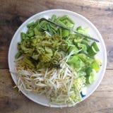 Rozmaitość lokalni warzywa ma z curry'ego ryżowym kluski Zdjęcia Royalty Free
