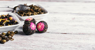 Rozmaitość luźnego liścia herbata Zdjęcie Stock