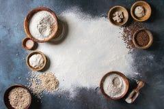 Rozmaitość mąka i adra obrazy stock