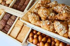 Rozmaitość piec towary, piekarnia, fotografii ikona dla podstawowego jedzenia, świeżość i rozmaitość towary, Zdjęcia Stock