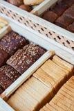 Rozmaitość piec towary, piekarnia, fotografii ikona dla podstawowego jedzenia, świeżość i rozmaitość towary, Obrazy Stock