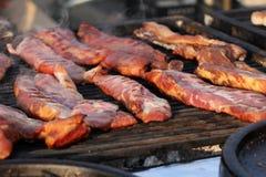Rozmaitość różni mięśni stki jakby i przepasuje grill piec na grillu mięso piec wieprzowiny pieczone mięso Obraz Stock