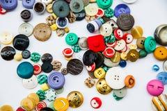 Rozmaitość roczników guziki Zdjęcie Stock
