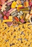 Rozmaitość typ i kształty Włoski makaron obrazy royalty free