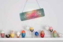 Rozmaitość Wielkanocni jajka Zdjęcie Royalty Free