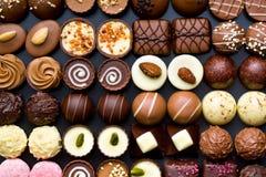 Rozmaitości czekolady pralines obrazy royalty free