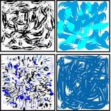 rozmazy zaplamiają różnorodność substraty i tła Obraz Stock