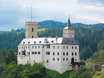 Rozmberk城堡 图库摄影