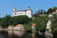 Rozmberk castle Royalty Free Stock Photo