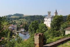 Rozmberk castle Stock Image