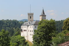 Rozmberk castle Royalty Free Stock Photography