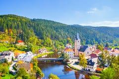 Rozmberk nad Vltavou in Czechia stock images