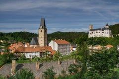 Rozmberk nad Vltavou, Hrad rozmbe. K, Rozmberk castle, Czech Republic Stock Photography