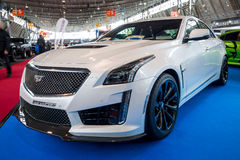 Rozmiar luksusowy samochodowy Cadillac CTS-V, 2016 Obraz Royalty Free