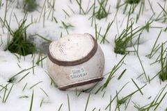 Rozmiaru 5 sliotar Irlandzka skóra rzuca piłkę Zdjęcie Stock