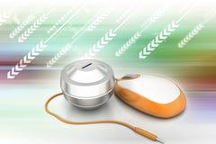 rozmieniona komputerowa pojęcia projekta pieniądze mysz online był Obrazy Stock