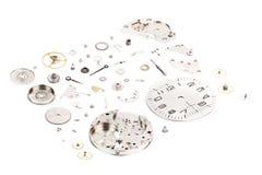 _ Rozmontowywający stary machinalny wristwatch odizolowywający na whithe tle Obrazy Stock