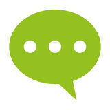 rozmowa bąbel z kropki ikoną ilustracji
