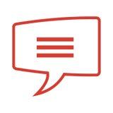 rozmowa bąbel z liniami ilustracji