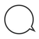 rozmowa bąbla ikona ilustracja wektor