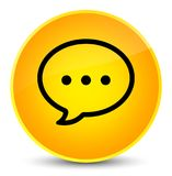 Rozmowa bąbla ikony elegancki żółty round guzik ilustracji