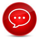 Rozmowa bąbla ikony elegancki czerwony round guzik ilustracja wektor