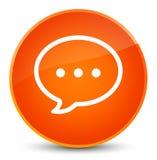 Rozmowa bąbla ikony elegancki pomarańczowy round guzik royalty ilustracja