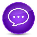 Rozmowa bąbla ikony elegancki purpurowy round guzik ilustracja wektor