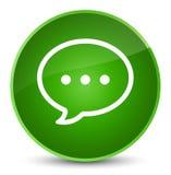 Rozmowa bąbla ikony elegancki zielony round guzik ilustracja wektor