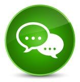 Rozmowa bąbla ikony elegancki zielony round guzik ilustracji
