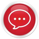Rozmowa bąbla ikony premii czerwony round guzik ilustracja wektor