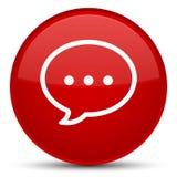 Rozmowa bąbla ikony specjalny czerwony round guzik ilustracji
