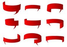 Rozmowa czerwony bąbel royalty ilustracja