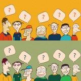 rozmowa Ludzie z chmur myślami ilustracji
