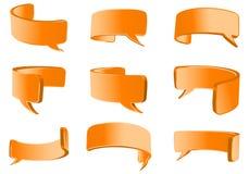 Rozmowa pomarańczowy elastyczny bąbel royalty ilustracja
