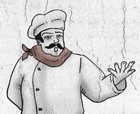 Rozmowa szef kuchni royalty ilustracja