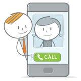 Rozmowa telefonicza royalty ilustracja
