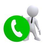 Rozmowa telefonicza ilustracji