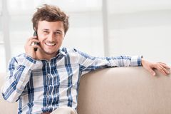 Rozmowa telefonicza zdjęcia stock