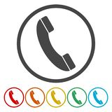 Rozmowa Telefonicza wektoru ikona Styl jest mieszkanie zaokrąglającym symbolem ilustracja wektor